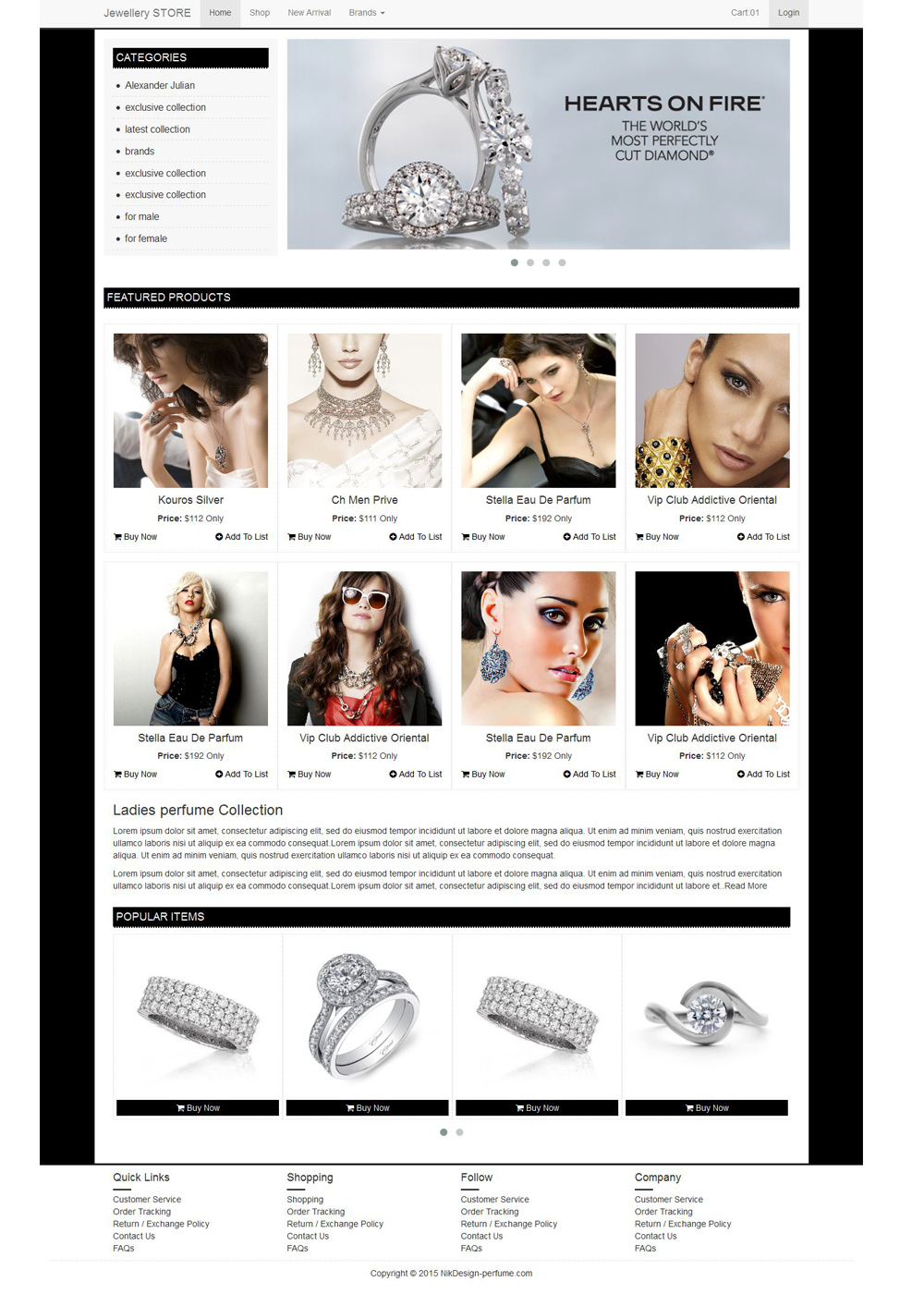 Jewellery Website Templates