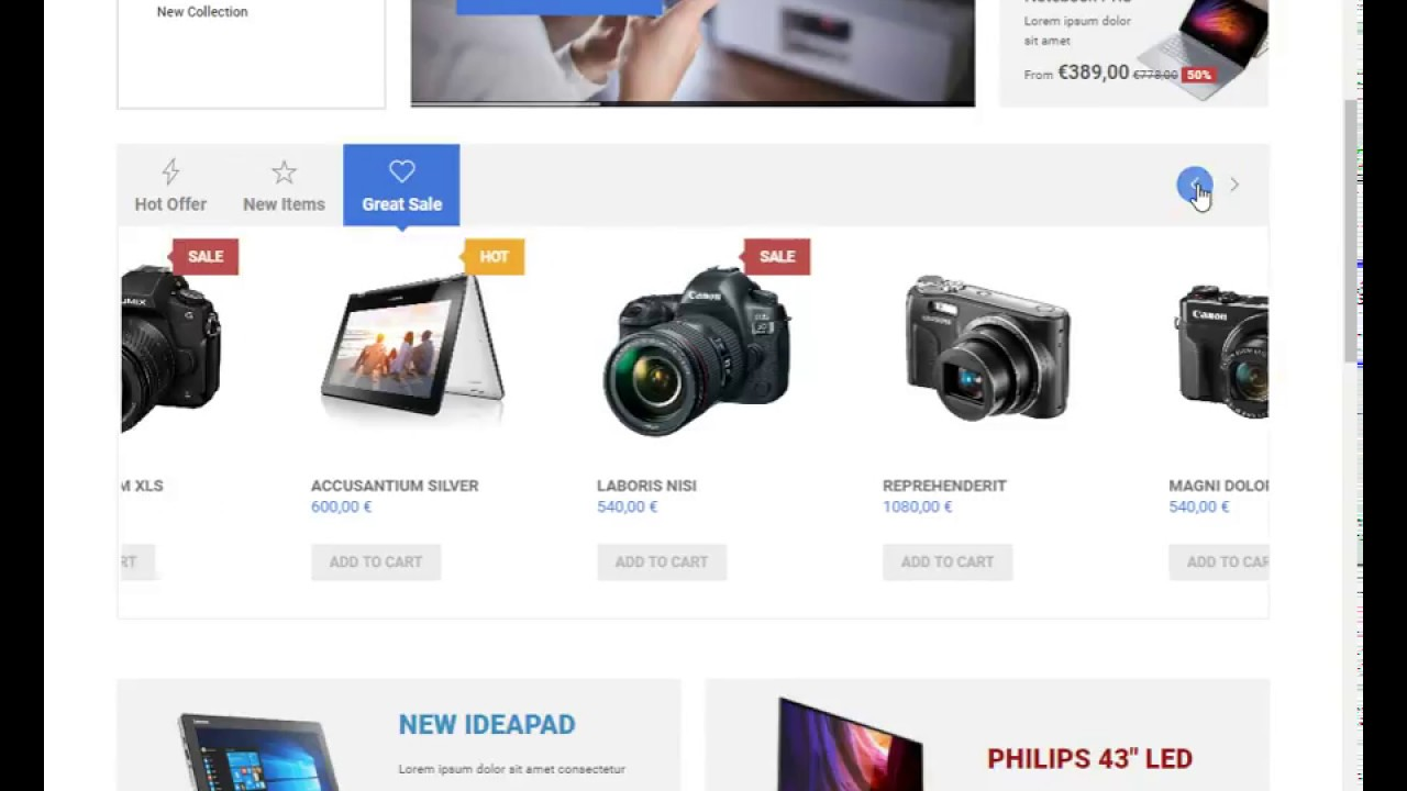 Joomla Shopping Cart Template