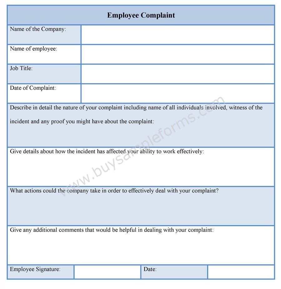 Legal Complaint Form Template