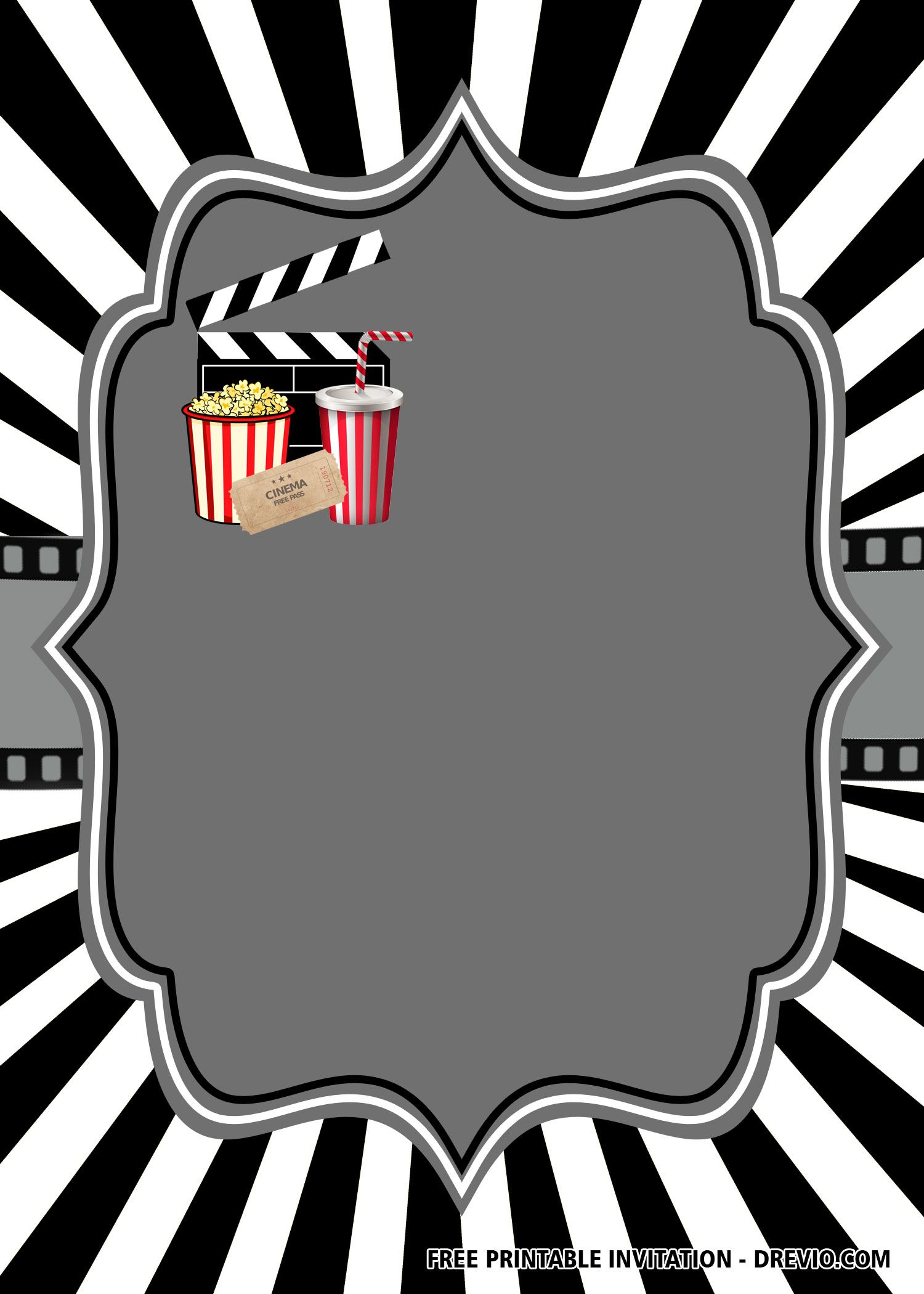 Movie Invitations Templates Free