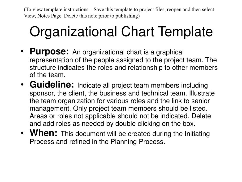 Organizational Chart Ppt Template Free Download