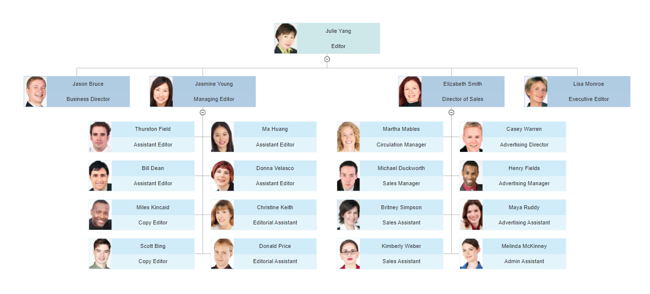 Organizational Chart With Responsibilities Template Free Download