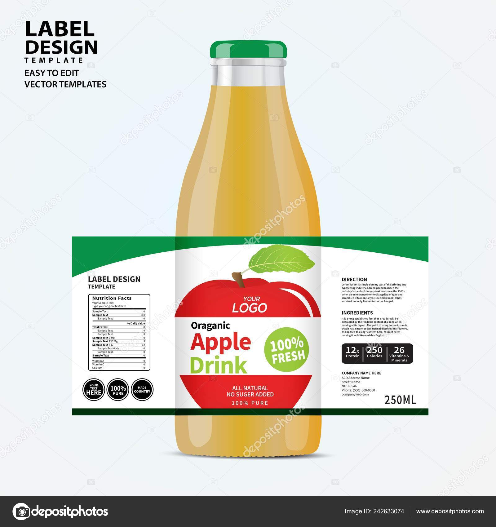 Packaging Label Template