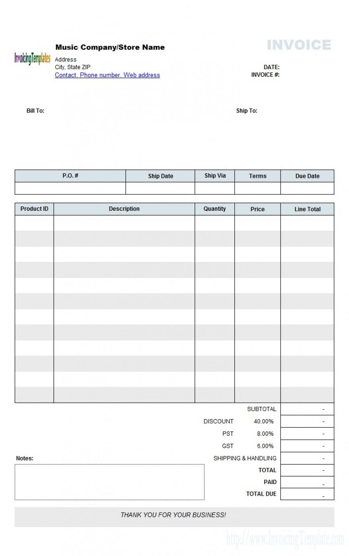 Pdf Blank Invoice Template