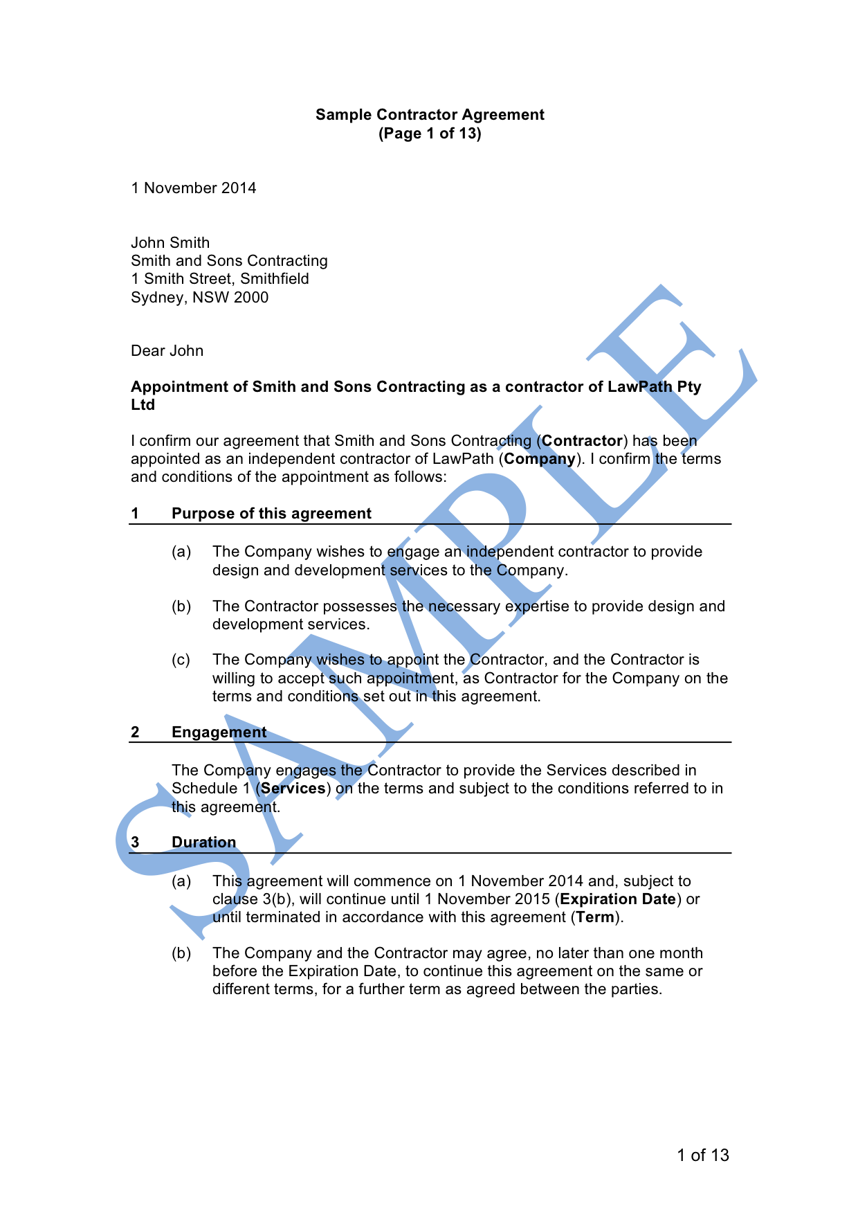 Pdf Casual Employment Contract Template