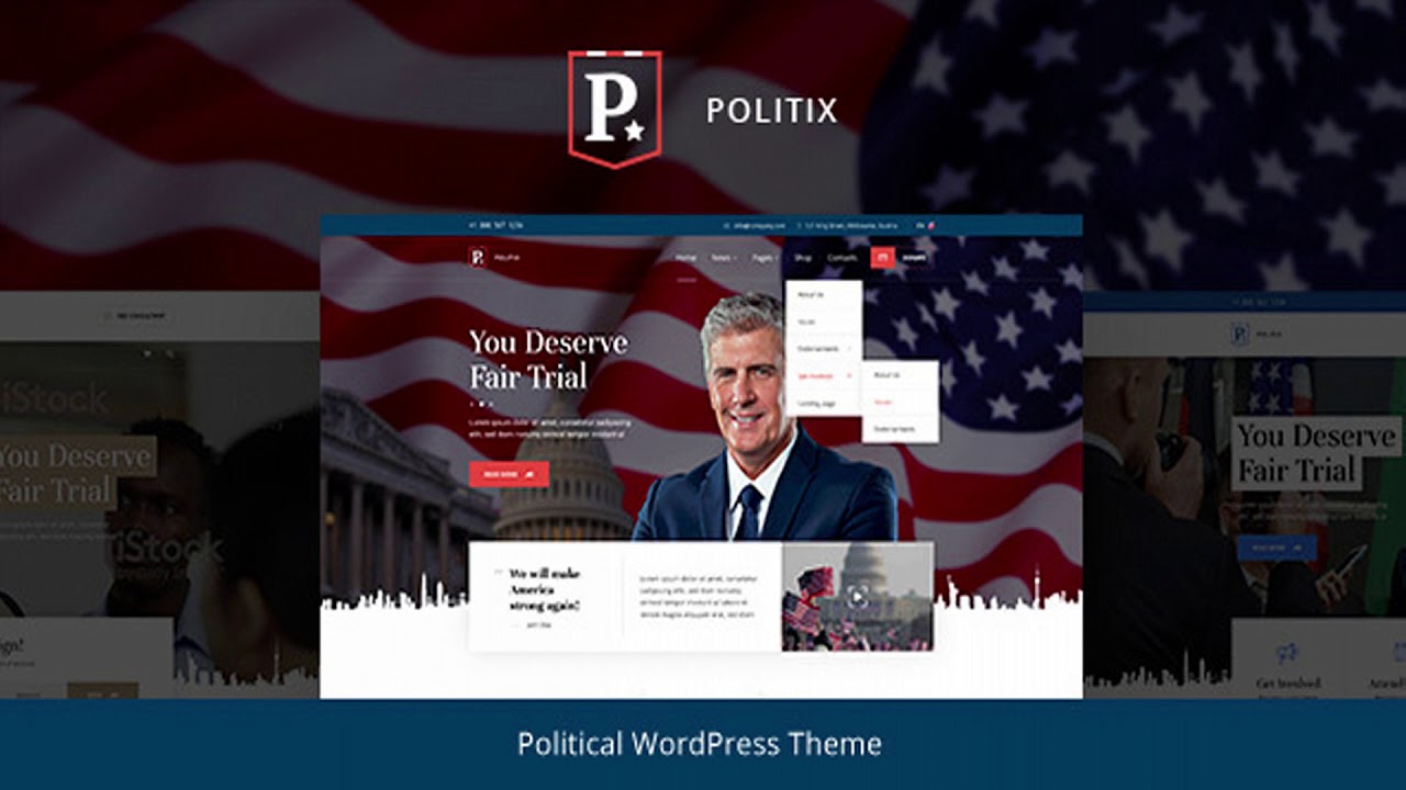 Political Website Templates Wordpress
