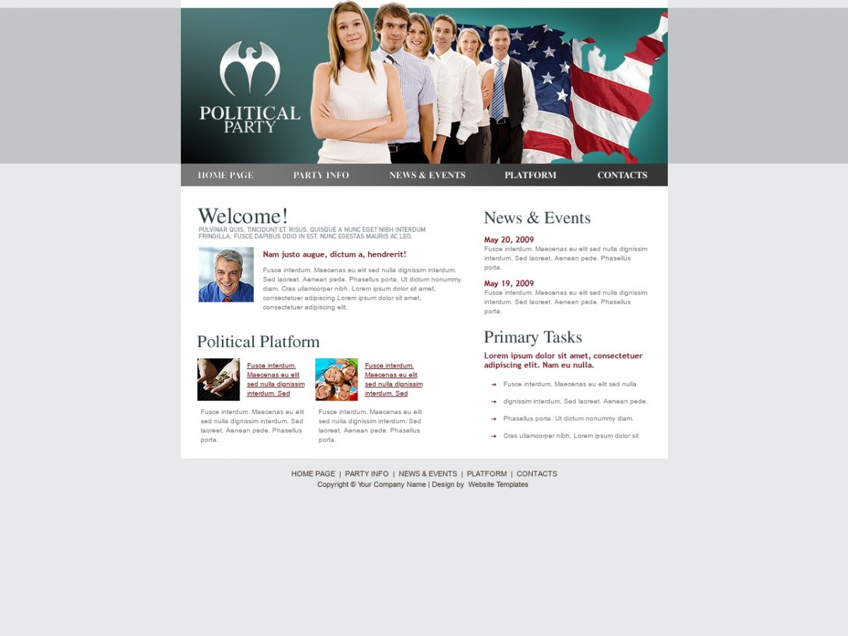 Politician Website Templates Free Download