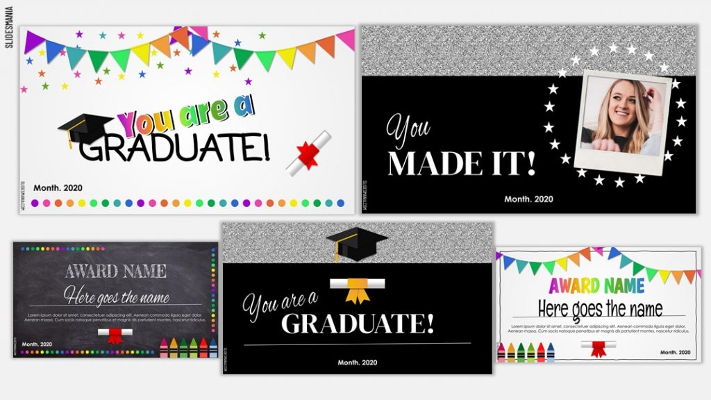 Powerpoint Templates Kindergarten Graduation Slideshow Template
