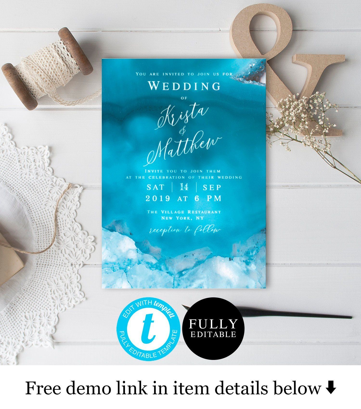 Printable Beach Wedding Invitations Templates Free