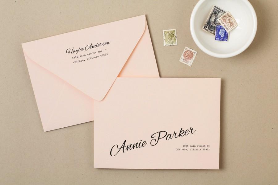 Printable Invitation Envelope Template