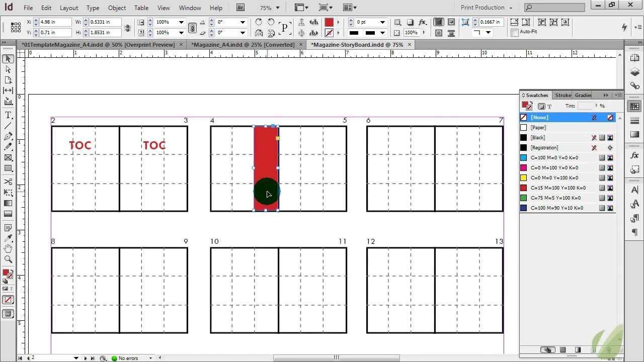 Printable Website Storyboard Template