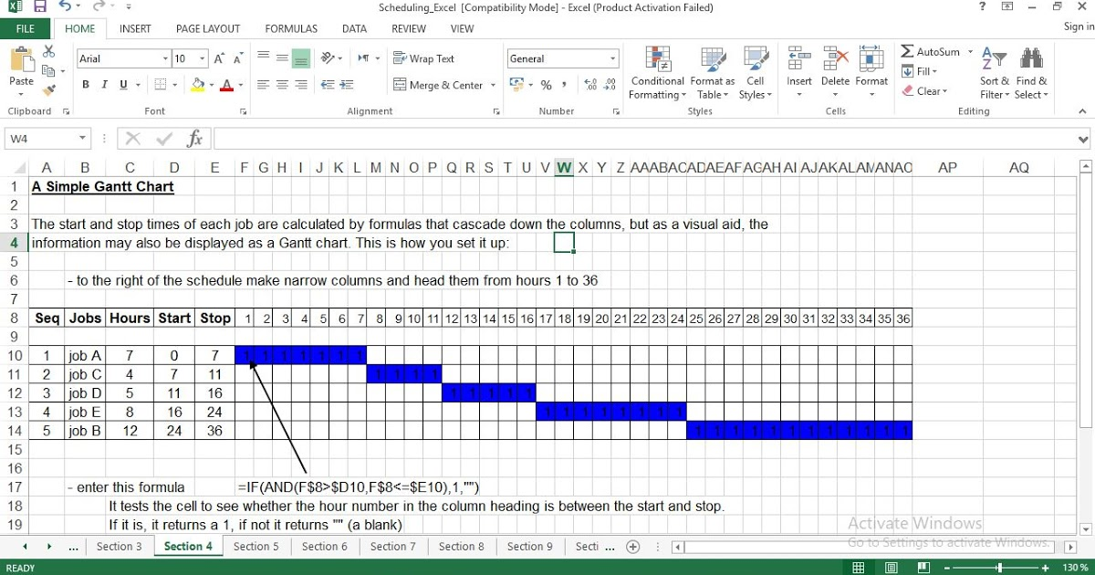 Production Scheduling Free Manufacturing Excel Templates