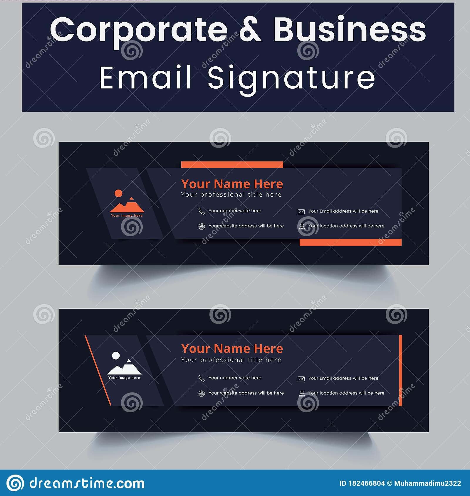 Professional Corporate Email Email Signature Template