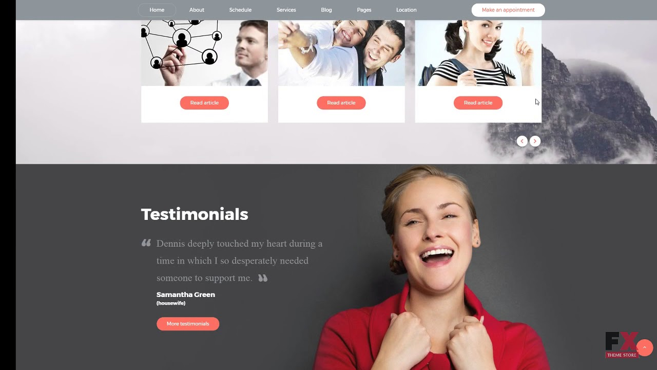 Psychologist Website Template Free