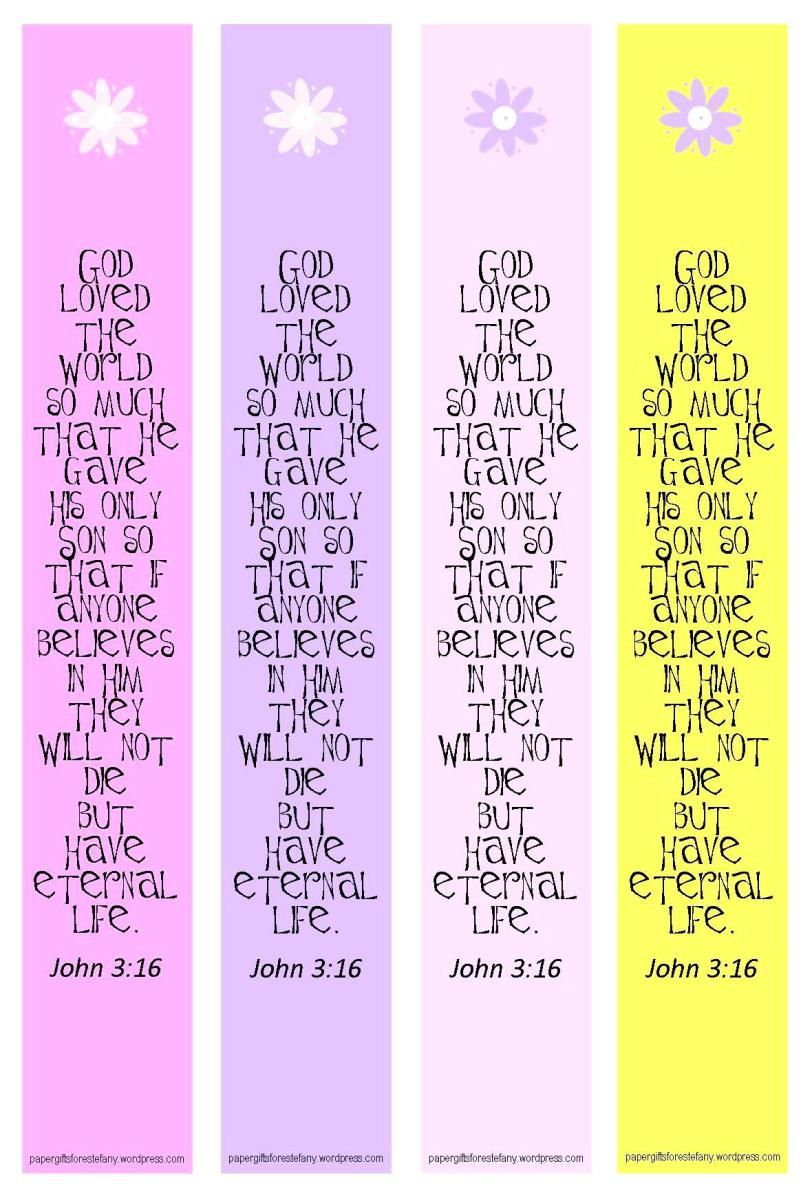 Religious Bookmark Templates
