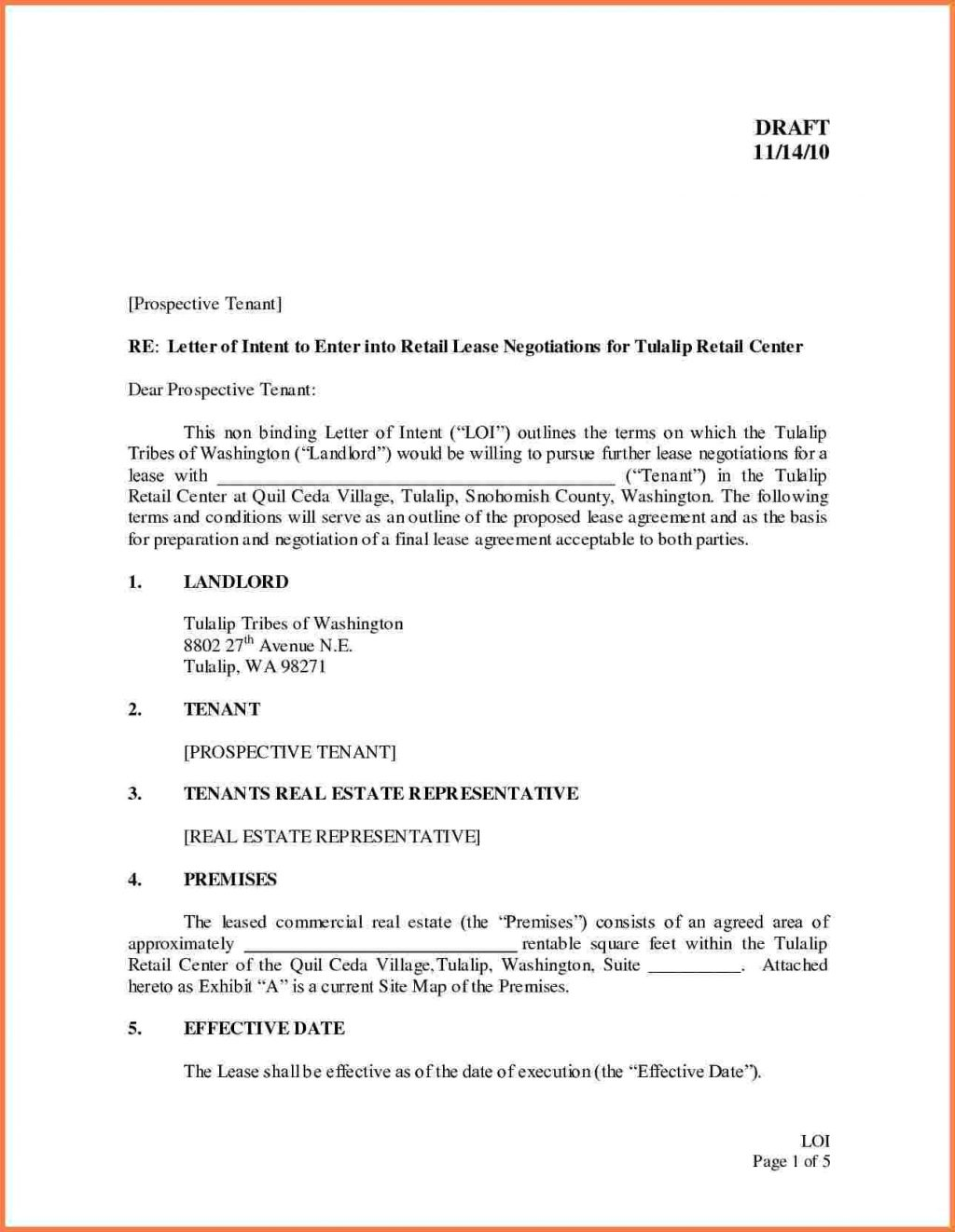 Rental Lease Proposal Template
