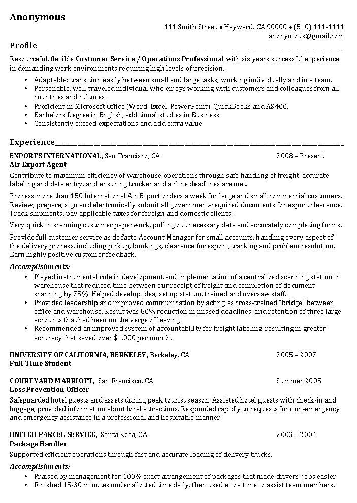 Resume Templates For Fast Food Worker