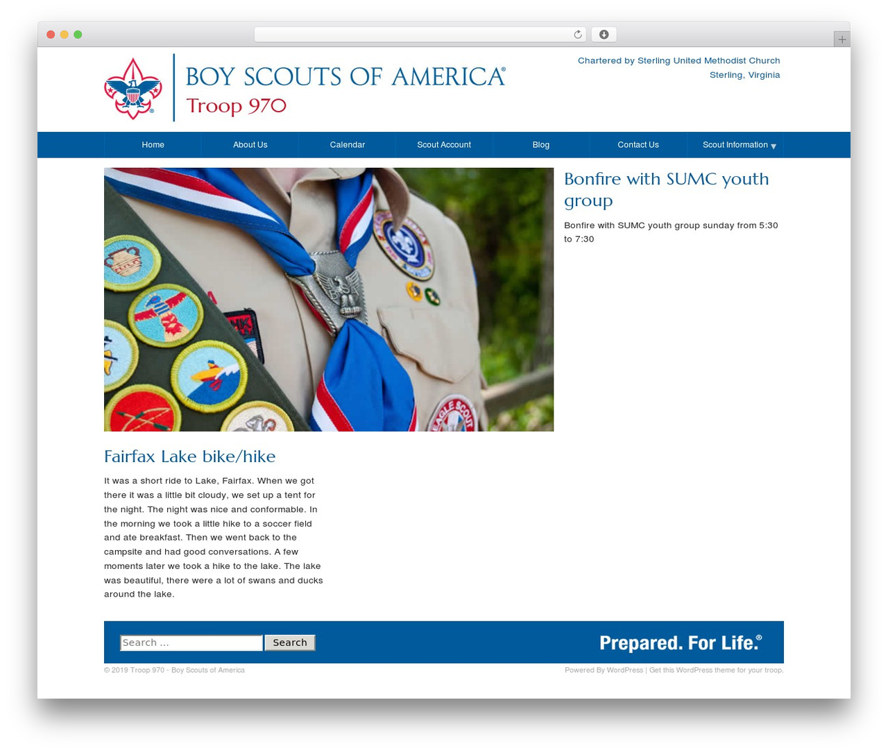 Scout Website Template