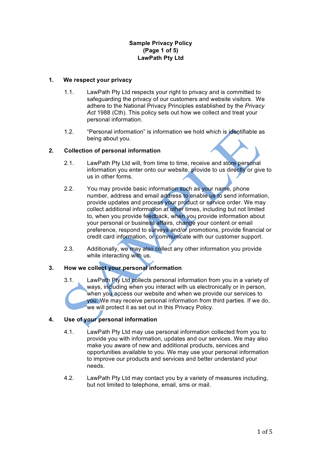 Shareholders Agreement Template Australia