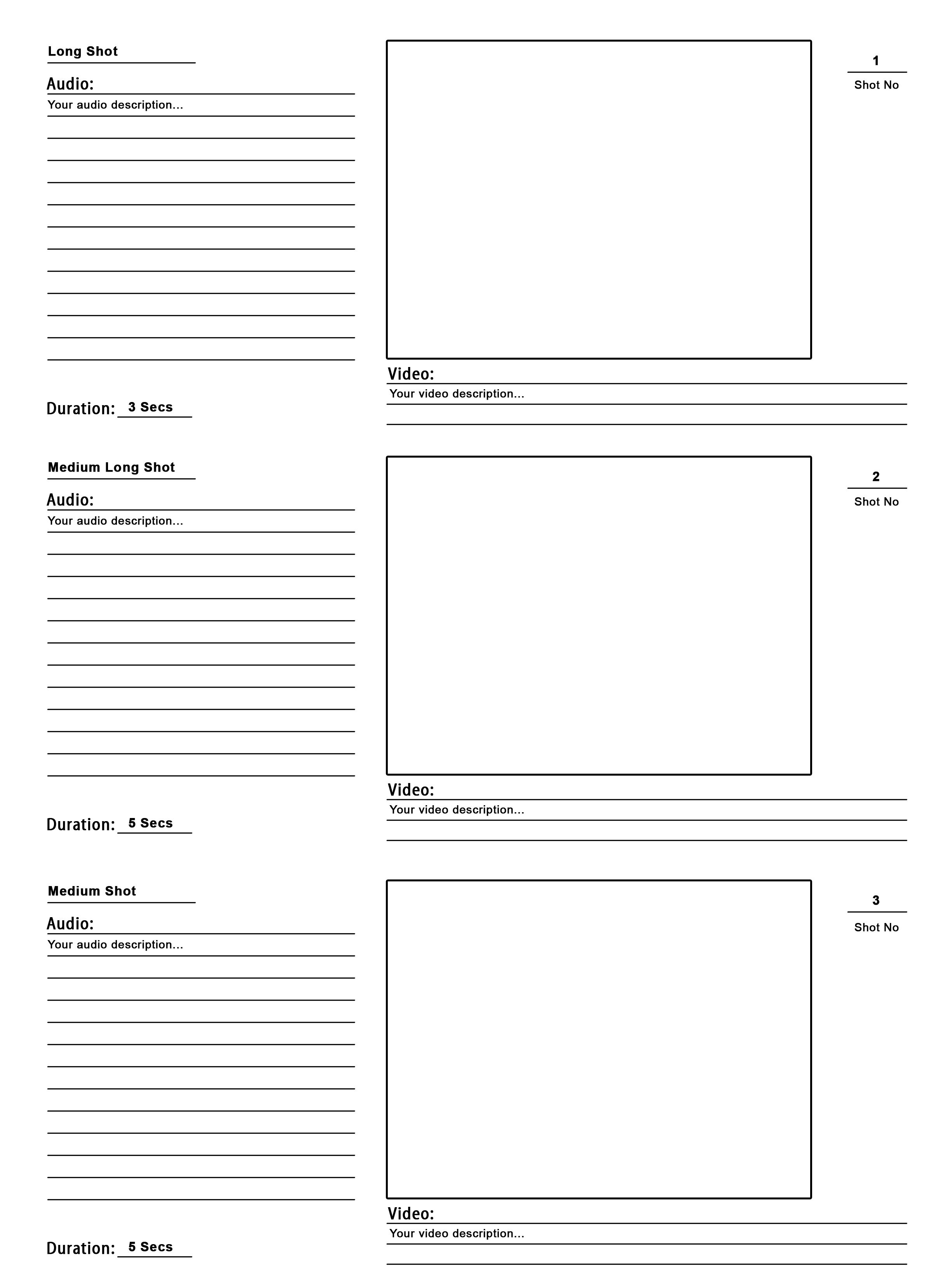Storyboard Template For Website Design