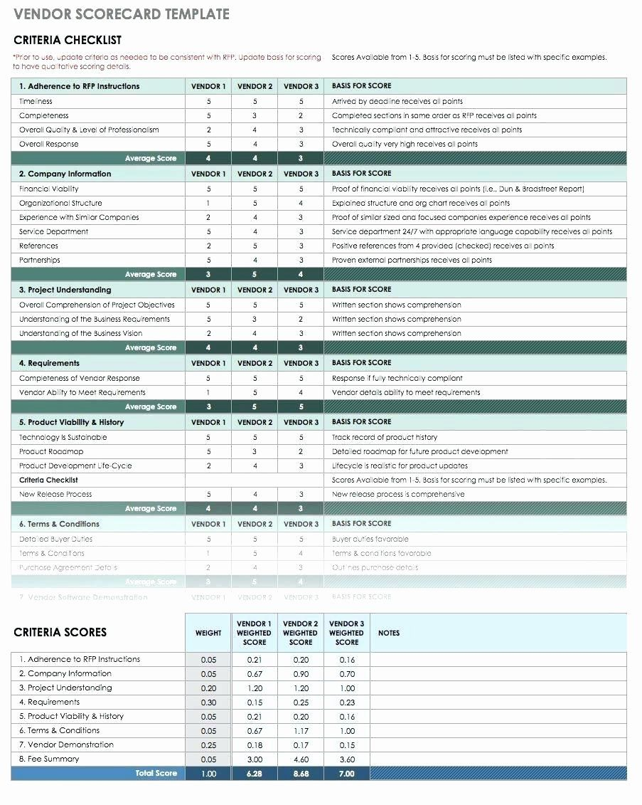 Supplier Management Vendor Management Excel Template