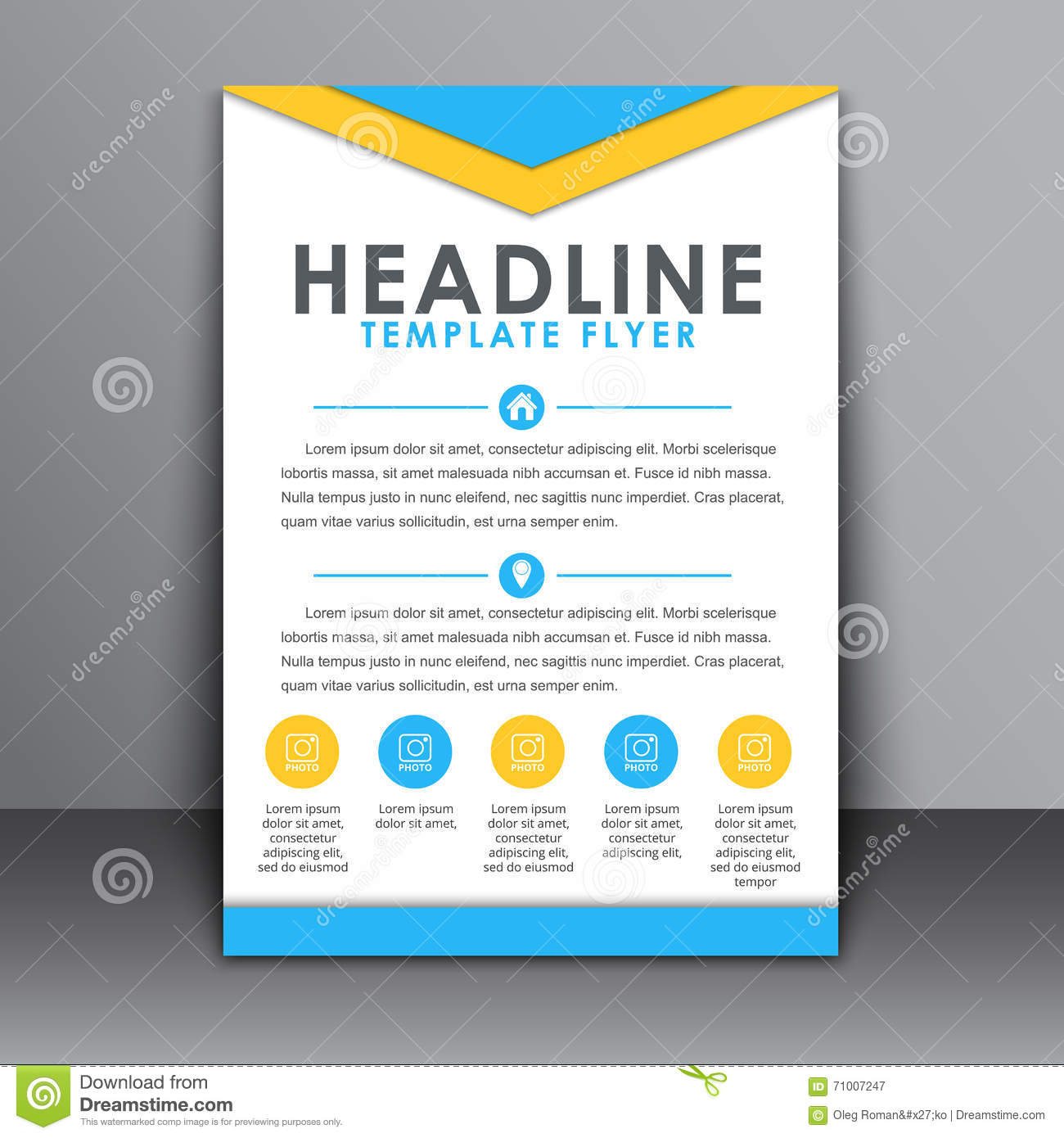 Template For Advertising Flyer
