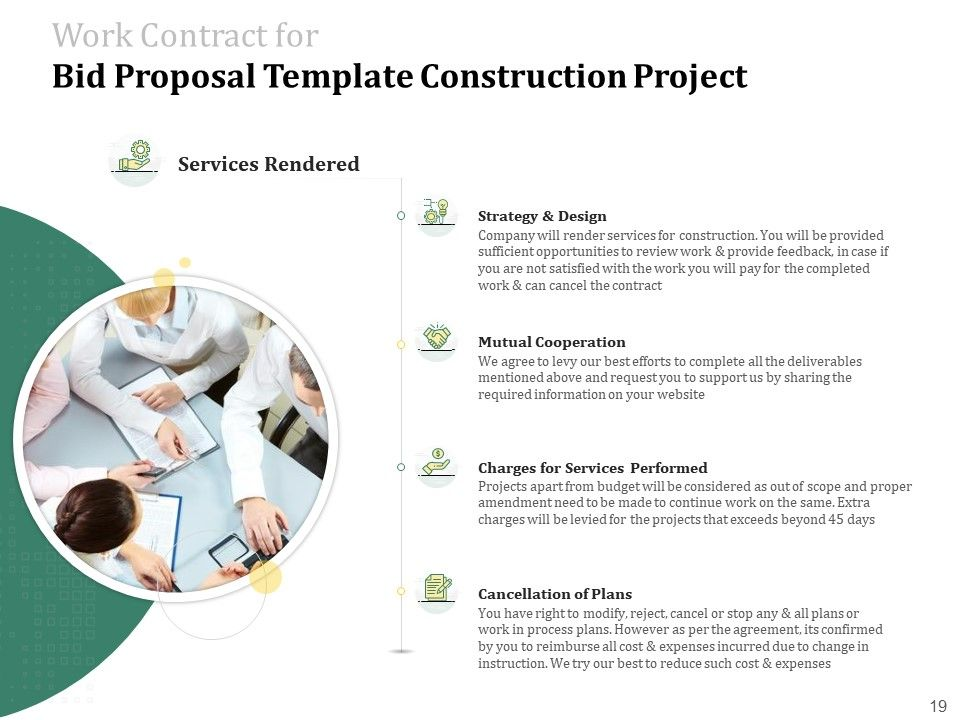 Template For Bid Proposal For Construction