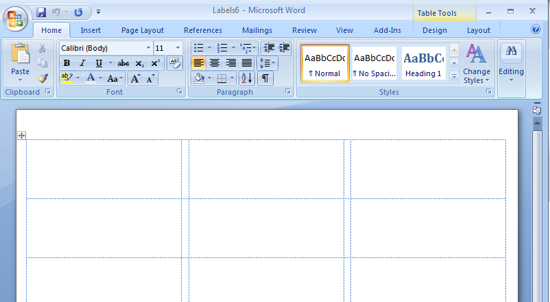 Template For Sticker Labels In Word