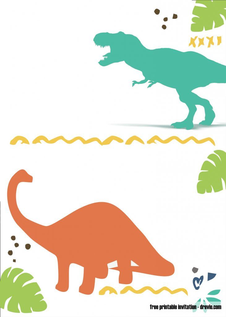Template Free Free Dinosaur Birthday Invitations