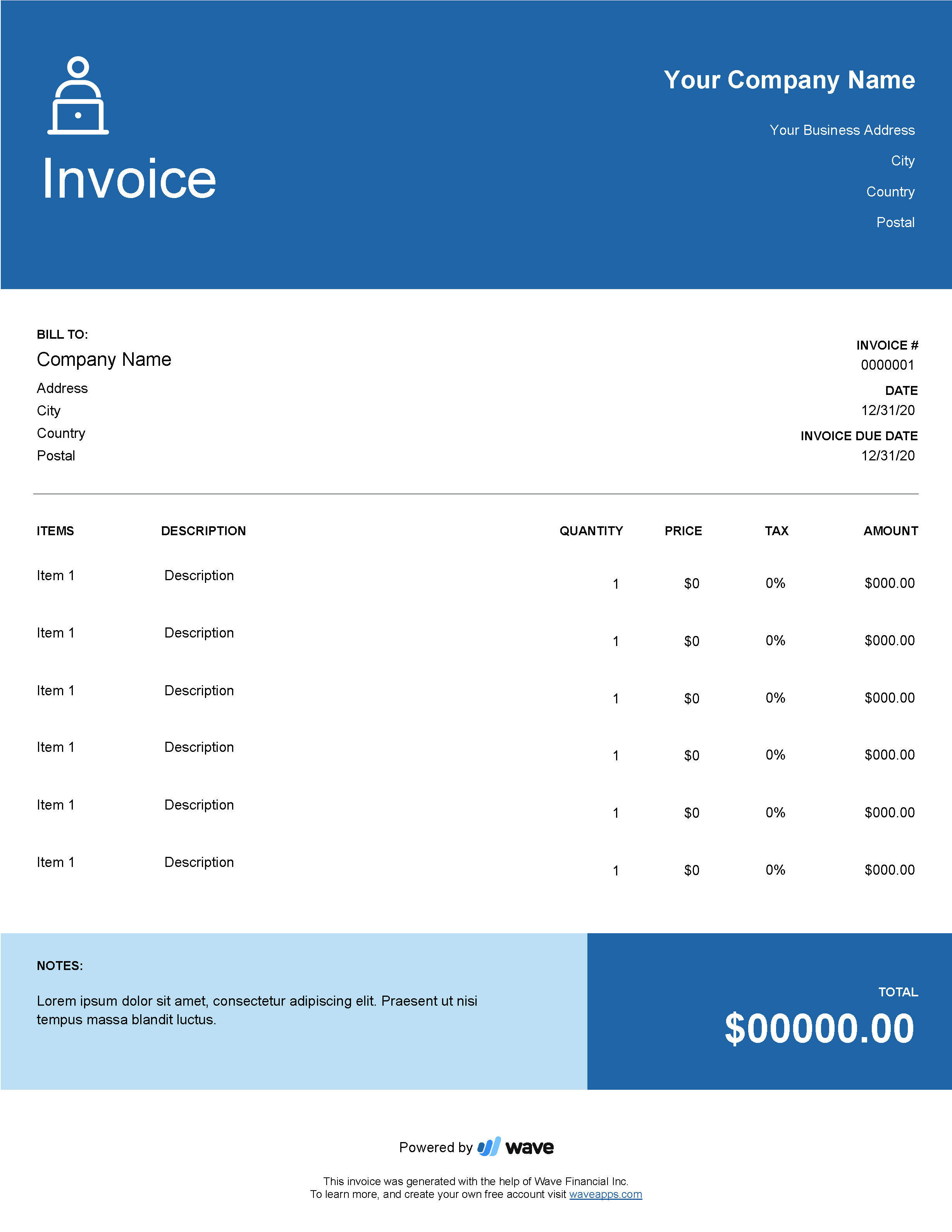 Templates For Receipts And Invoices