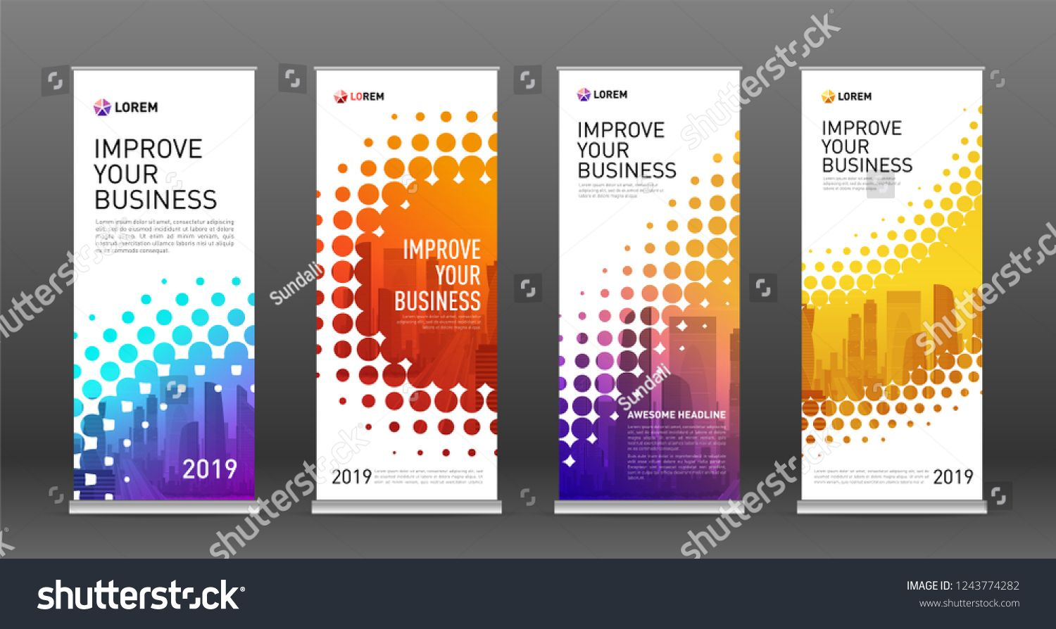 Vertical Banner Design Templates
