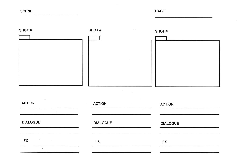 Web Design Website Storyboard Template