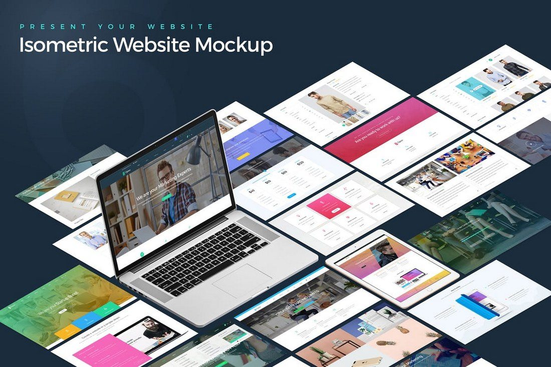 Website Template Mockup