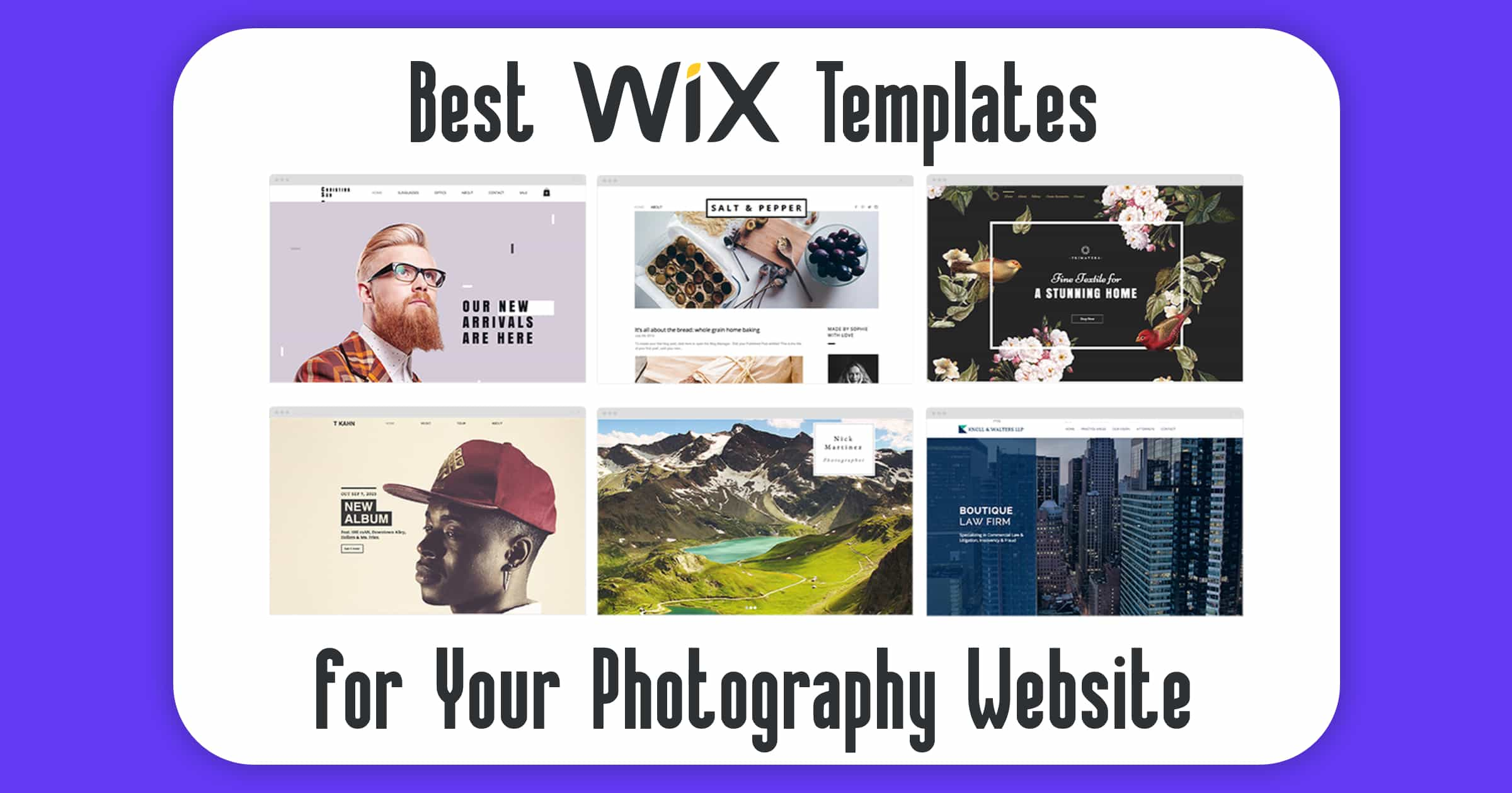 Website Templates Wix