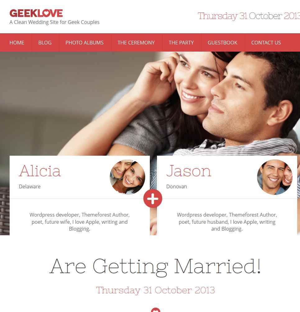 Wedding Templates WordPress