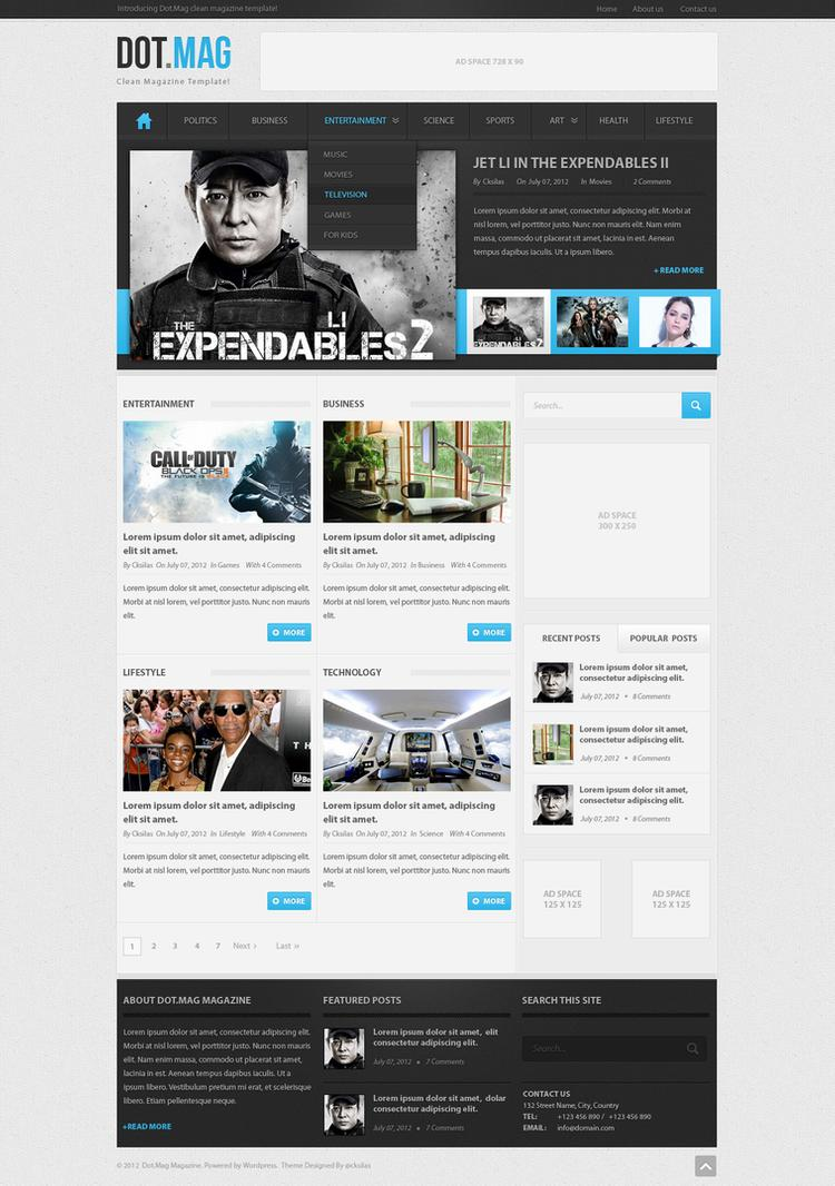 Wordpress Psd Templates