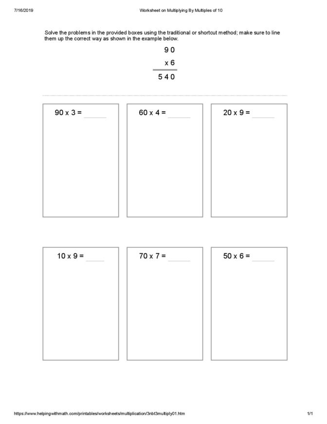 2nd Grade Math Worksheets Pdf Packet Free