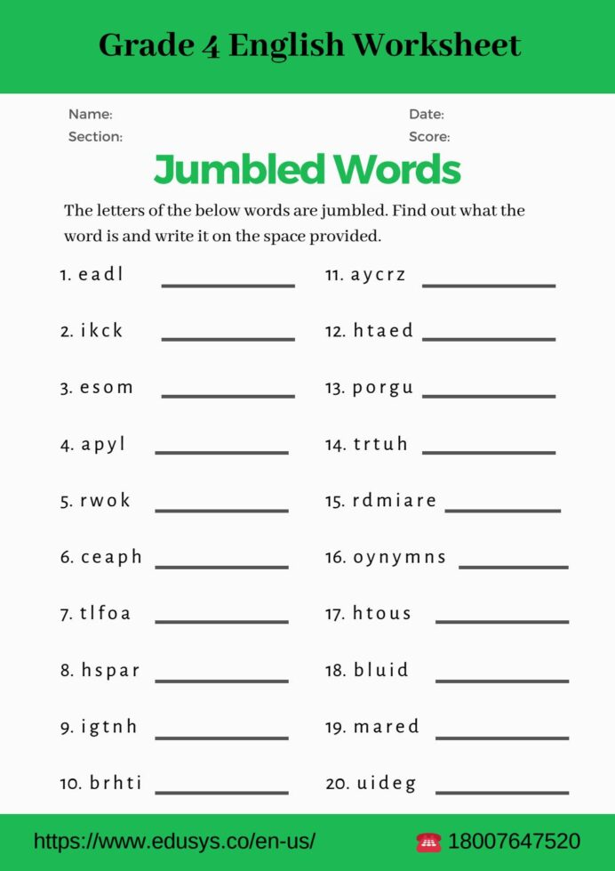4th Grade Math Worksheets Pdf