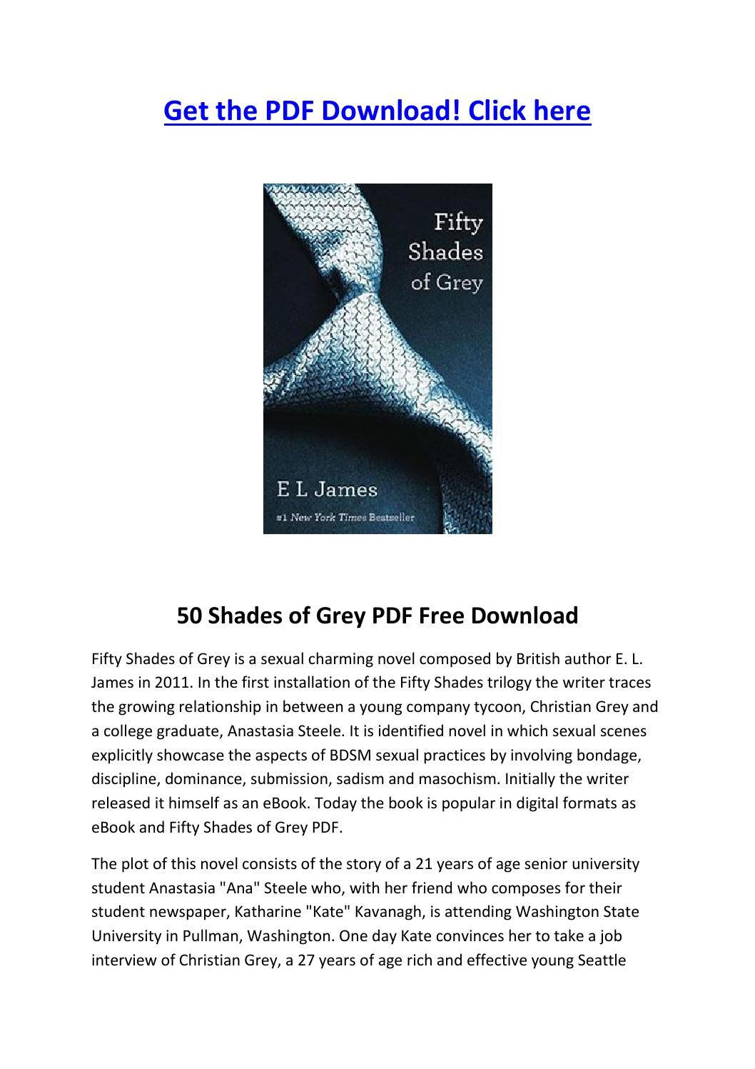 50 Shades Of Grey Pdf Free