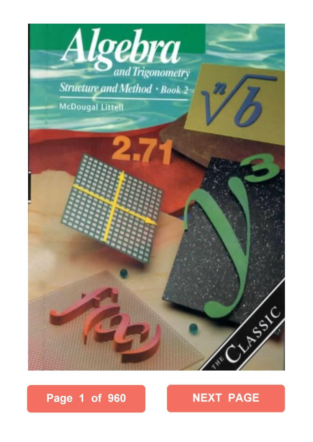 Algebra 2 Textbook Pdf Mcdougal