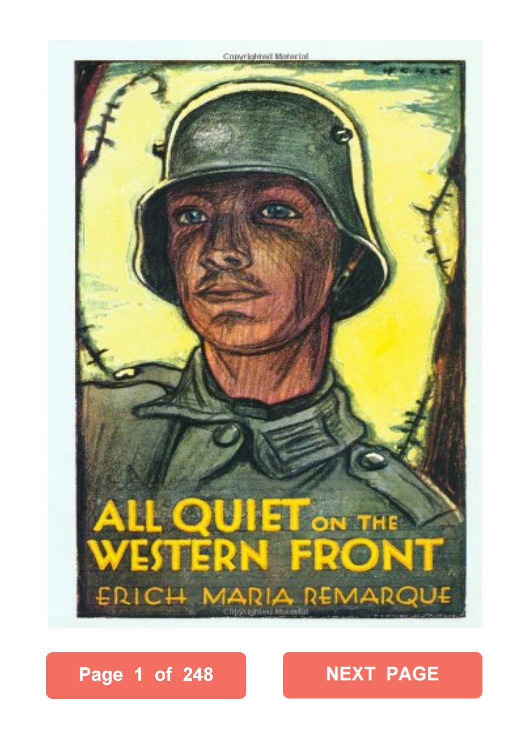 All Quiet On The Western Front Pdf With Page Numbers