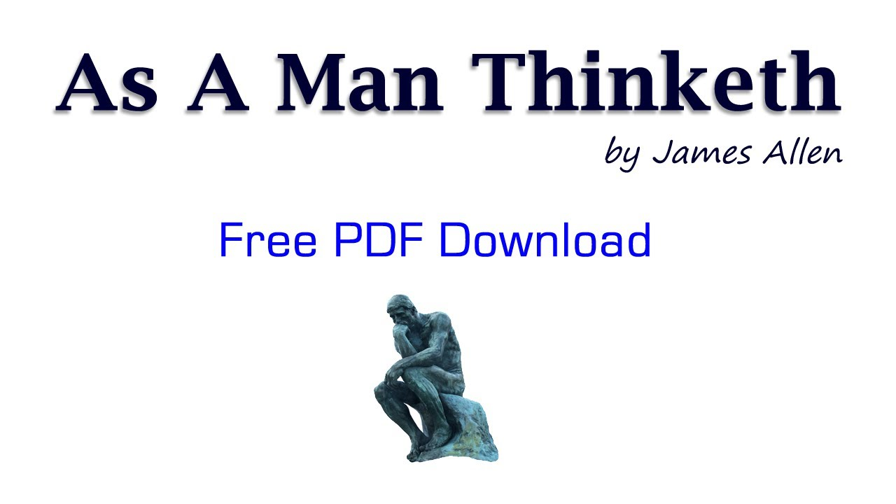 As A Man Thinketh Pdf Download