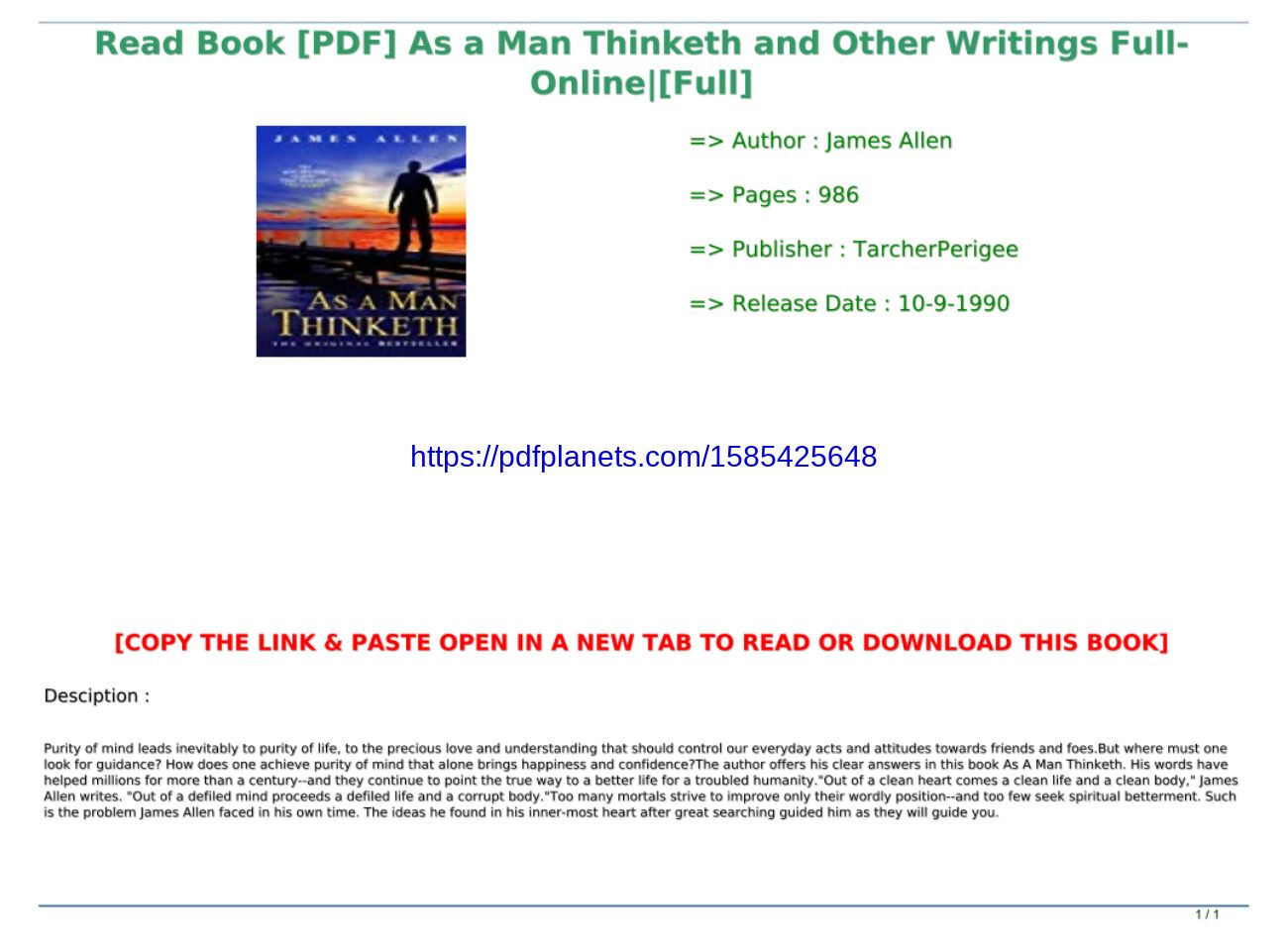 As A Man Thinketh Pdf Online