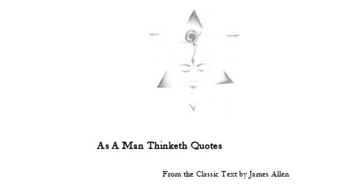 As A Man Thinketh Quotes Pdf