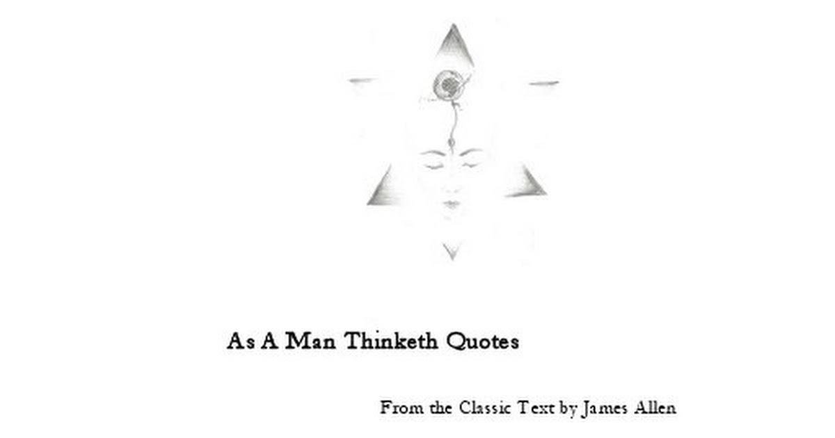 As A Man Thinketh Quotes Pdf