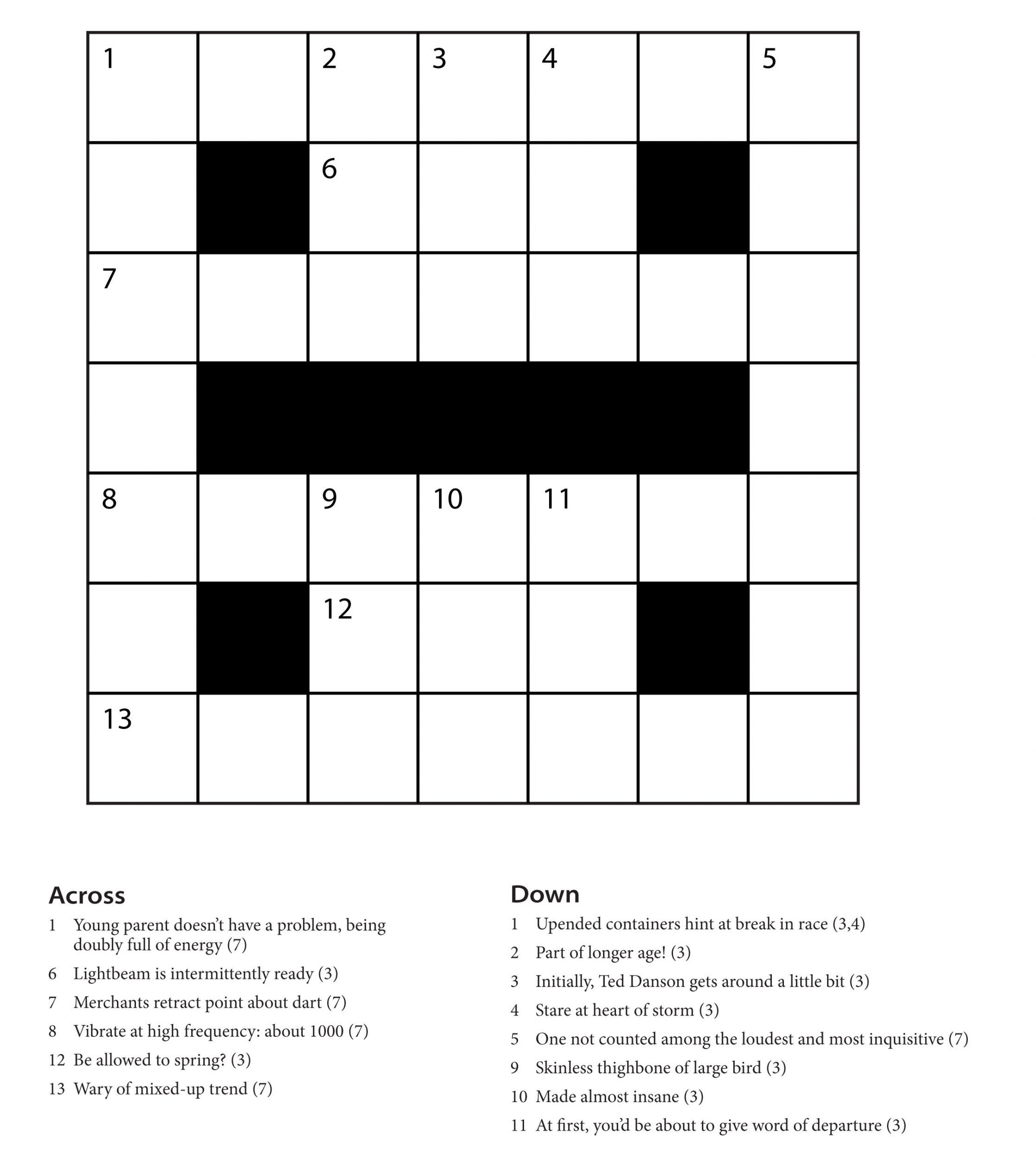 Beginner Printable Crossword Puzzles Pdf