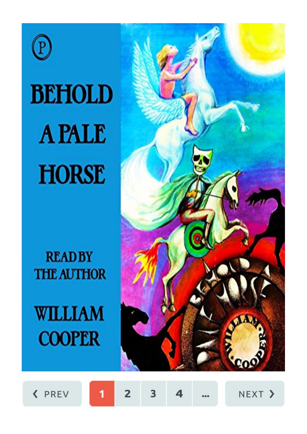 Behold A Pale Horse William Cooper Pdf