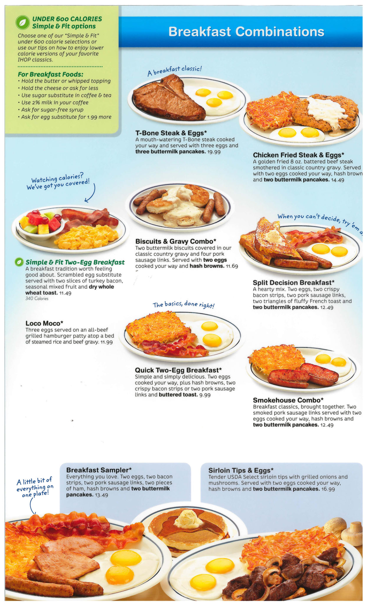 Breakfast Printable Ihop Menu Pdf