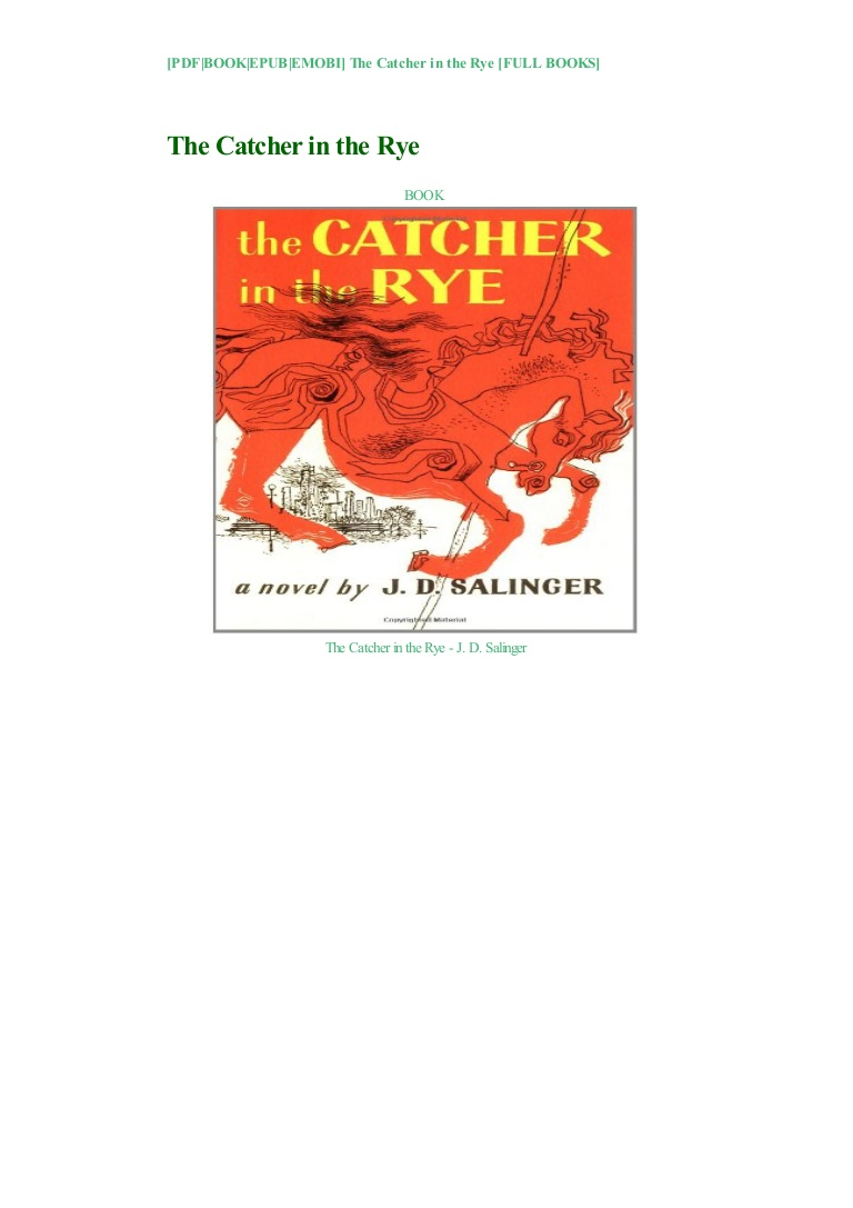 Catcher In The Rye Pdf Download