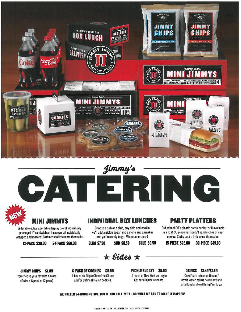 Jimmy Johns Order Form Pdf Unique Jimmy Johns Catering Menu Prices Catering Menu Prices